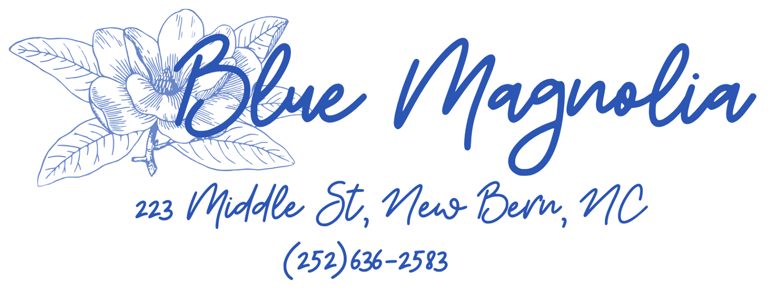 Blue Magnolia featuring pottery by Jim Bisbee